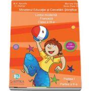 Limba moderna Franceza, CD AUDIO pentru Clasa a III-a, partea I si partea a II-a (M. A. Apicella)
