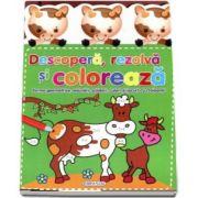 Descopera, rezolva si coloreaza. Forme geometrice, adunari, scaderi, culori si jocuri cu creioane!