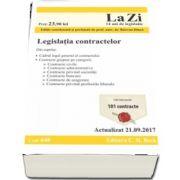 Legislatia contractelor - Actualizat la 21. 09. 2017. Editie coordonata si prefatata de Razvan Dinca (Cod 648)