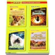 Set National Geographic Kids. Citesc si descopar Lumea. Invat sa citesc (4 Carti) Animale din africa, Cum traiesc furnicile, Atacul rechinilor, Migratia elefantilor