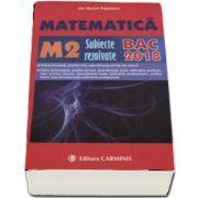 Bacalaureat 2018. 300 de variante de subiecte rezolvate, Matematica M2 de Ion Bucur Popescu