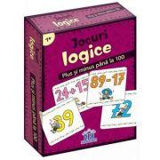 Jocuri logice - Plus si minus pana la 100 (Contine 48 de jetoane)
