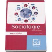 Memorator de Sociologie pentru liceu de Adrian Tiglea - Editia a 3-a