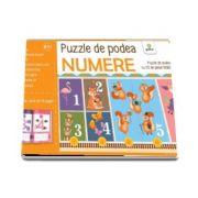Numere - Puzzle de podea cu 32 de piese uriase