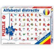 Alfabetul distractiv, puzzle cu 60 piese