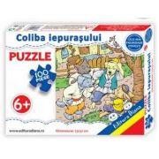 Coliba iepurasului, puzzle cu 100 piese