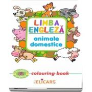 Limba engleza. Animale domestice. Colouring book