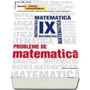 Probleme de matematica pentru clasa a IX-a. Consolidare - Editie 2017