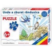 Puzzle - Unde a zburat randunica - Contine 60 piese
