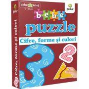 Bebe puzzle - Cifre, forme si culori (Contine 20 de piese de mari dimensiuni)