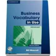 Business Vocabulary in Use Advanced with Answers and CD-ROM de Bill Mascull