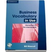 Business Vocabulary in Use Elementary to Pre-intermediate with Answers and CD-ROM de Bill Mascull
