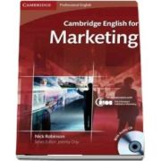 Cambridge English for Marketing Student's Book with Audio CD - Nick Robinson