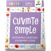 Cuvinte simple - Joc de dezvoltare a gandirii logice si de deprindere a cititului - Colectia Domino - Varsta recomandata: 4 - 6 ani