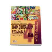 Limba Romana caietul elevului pentru clasa a-IV-a - partea I-a