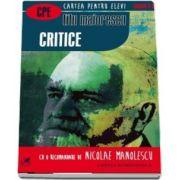 Critice. Cartea pentru elevi, clasele IX-XII de Titu Maiorescu