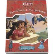 Sa pictam cu Elena din Avalor. Carte de colorat cu pensula si acuarele