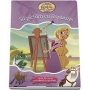 Sa pictam cu Rapunzel. Carte de colorat cu pensula si acuarele
