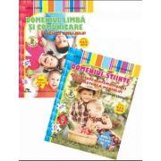 Set 2 caiete. Domeniu stiinte, activitate matematica si cunoasterea mediului. Domeniu limba si comunicare, educarea limbajului. Nivel I, 4-5 ani