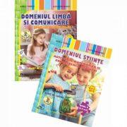 Set 2 caiete. Domeniu stiinte, activitate matematica si cunoasterea mediului. Domeniu limba si comunicare, educarea limbajului. Nivel II, 5-6 ani