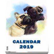 Calendar de perete cu spira 2019 - Imagini cu Catei