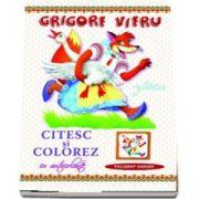 Gasca - Citesc si colorez cu autocolante