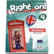 Jenny Dooley, Right on! 4 Workbook with Digibook app. Caiet de limba engleza, Intermediate (B1)