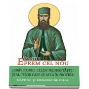 Sfantul Efrem cel Nou -Izbavitorul celor nedreptatiti si al celor care se afla in procese. Marturii si rugaciuni de folos