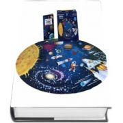 Spatiul, Sistemul Solar - calatoreste, invata, exploreaza (puzzle oval 98x67 cm)