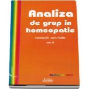 Analiza de grup in homeopatie, volumul II, remedii animale de Sorina Soescu