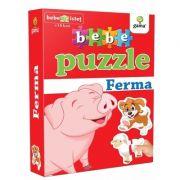 Bebe puzzle - Ferma (Contine 20 de piese de mari dimensiuni)
