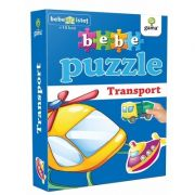 Bebe puzzle - Mijloace de transport (Contine 20 de piese de mari dimensiuni)