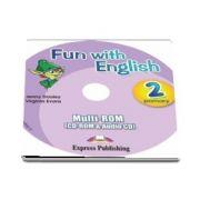 Curs de limba engleza -  Fun with English 2 Primary Multi ROM (CD Rom and Audio CD)
