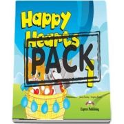 Curs de limba engleza - Happy Hearts 1 with Stickers and Press Outs and Extra Optional Units and Multi Rom