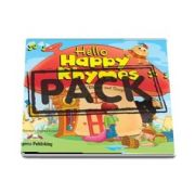 Curs de limba engleza - Hello Happy Rhymes Book with Audio CD and DVD Video PAL