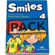 Curs de limba engleza - Smiles 4 Teachers Book interleaved with Posters