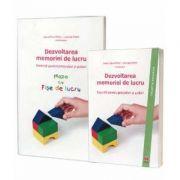 Dezvoltarea memoriei de lucru. Set 2 carti - Exercitii pentru prescolari si scolari, mapa cu fise de lucru