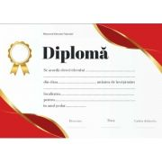 Diploma - Format A4 (model imagine academica rosu)