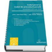 Codul penal si Codul de procedura penala. Actualizat la 20 iunie 2019 (Format A5 cu spirala)