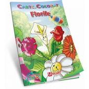 Florile. Carte de colorat