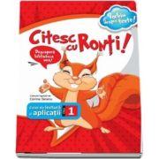 Citesc cu Ronti - caiet de lectura si aplicatii pentru clasa I
