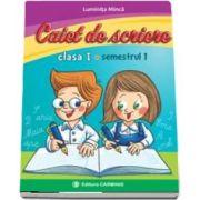 Caiet de scriere pentru clasa I, semestrul I