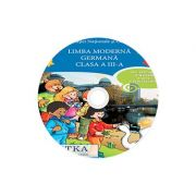 Limba moderna Germana, CD AUDIO pentru Clasa a II-a, partea I si partea a II-a (M. G. Bertarini, A. Hallier, P. Iotti, S. Peristeubing)