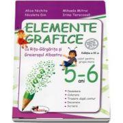 Elemente grafice cu Rita-Gargarita si Greierasul Albastru, 5-6 ani. Editia a II-a