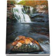 Calendar 2020 de perete cu peisaje - Cu spira alba si agatatoare