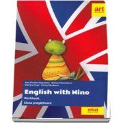 Caiet de limba engleza pentru clasa pregatitoare. English with Nino (AVIZAT DE M. E. N. 2018)