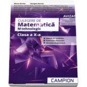 Culegere de matematica pentru clasa a X-a. Profil - M tehnologic