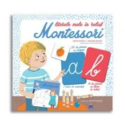 Literele mele in relief Montessori - Cu 59 de jetoane