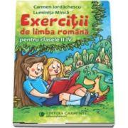 Exercitii de limba romana pentru clasele II-IV de Carmen Iordachescu