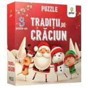 Traditii de Craciun - Puzzle educativ